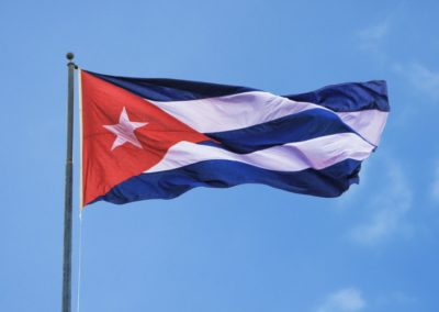 cuban flag sky