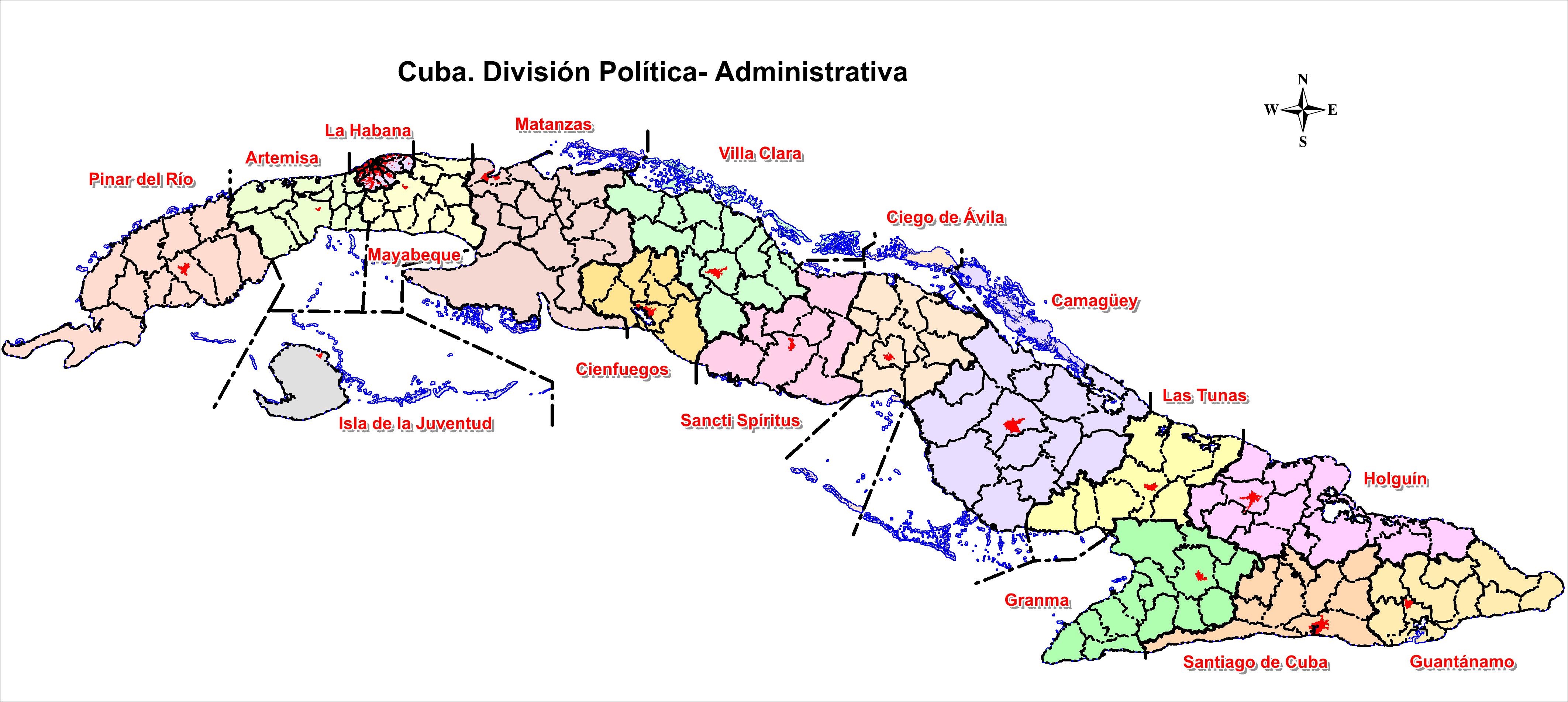 cuba division map