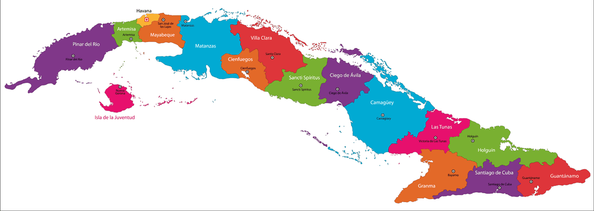 political map of cuba