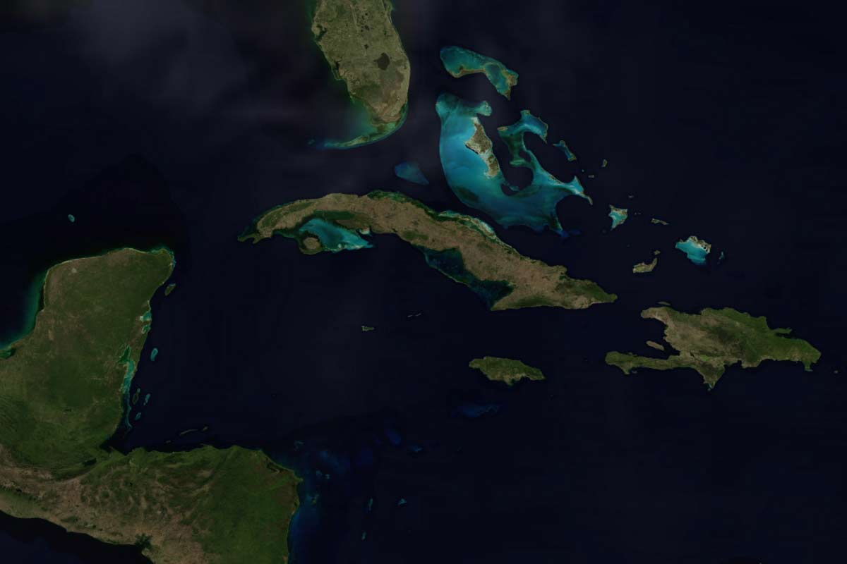satellite map of cuba