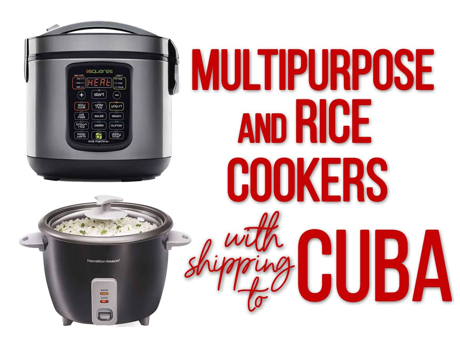 multipurpose cookers and rice cookers cuba